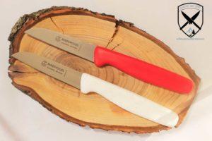 Küchenmesser Set Rot-Flitter gerade Klinge Marsvogel