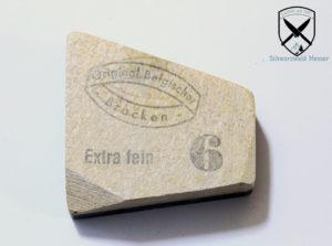 Schleifstein belgischer Brocken bei Schwarzwald-Messer