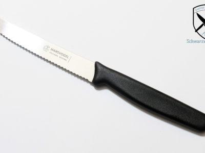 Tischmesser Brötchenmesser Griff Schwarz Welle Marsvogel