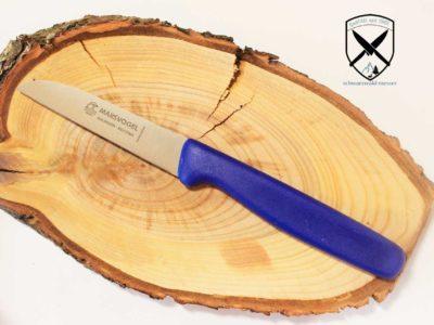 Küchenmesser gerade Kunststoffgriff Blau Marsvogel