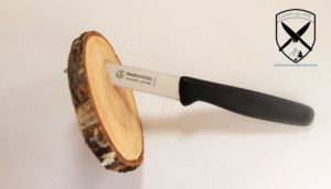 Küchenmesser gerade mit Welle Schwarz Marsvogel