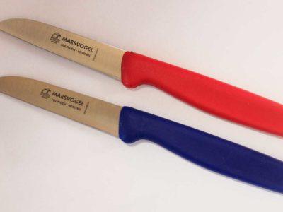 Küchenmesser Set Blau-Rot gerade Klinge Marsvogel