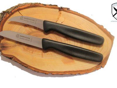 Küchenmesserset Schwarz Kunststoffgriff