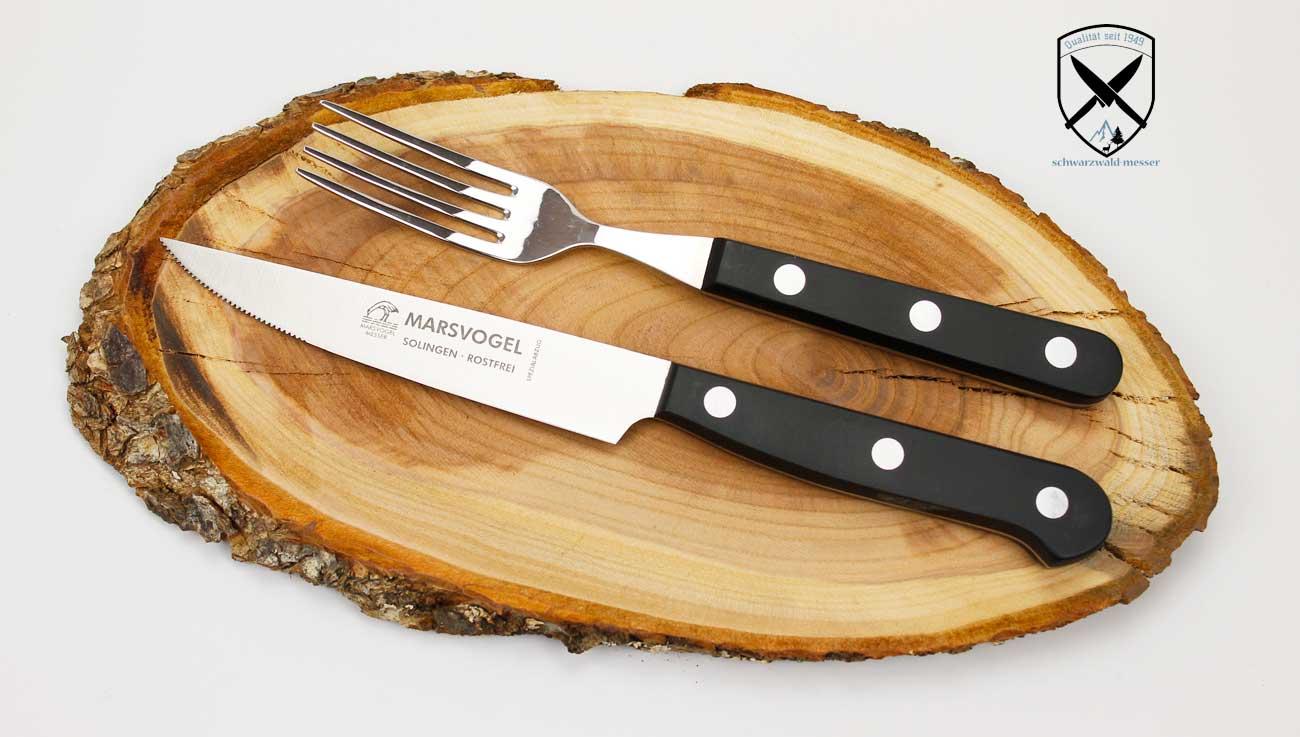 Marsvogel Steakbesteck mit Säge Pom Griffe RF Solingen