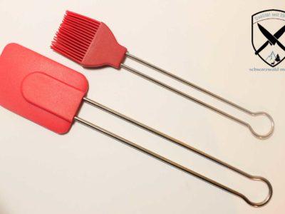 Teigschaber-groß/Backpinsel Silikon