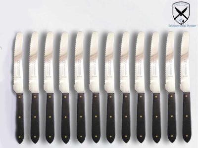 Tischmesser Frühstücksmesser Schwarz Welle