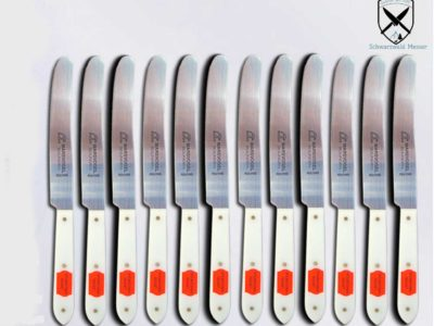 12 x Tischmesser POM weiß ohne Welle