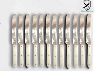 Tischmesser Weiß mit Welle POM
